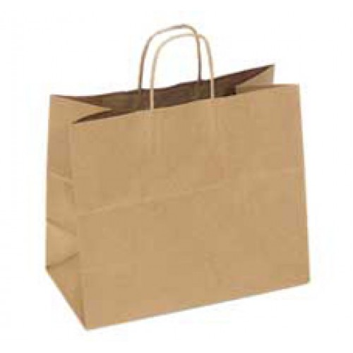 NATURAL KRAFT SHOPPING BAG 16x6x13x6 / 250PCS