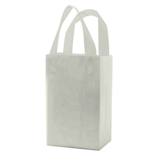 CLEAR FROSTED SOFT LOOP HANDLE BAGS