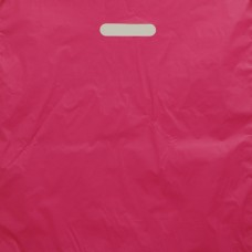 HOT PINK HDPE S/DIE CUT HANDLE BAG 20x20+5 1.75mil
