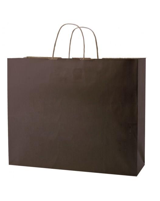 STRIPE TINTED KRAFT SHOPPING BAGS